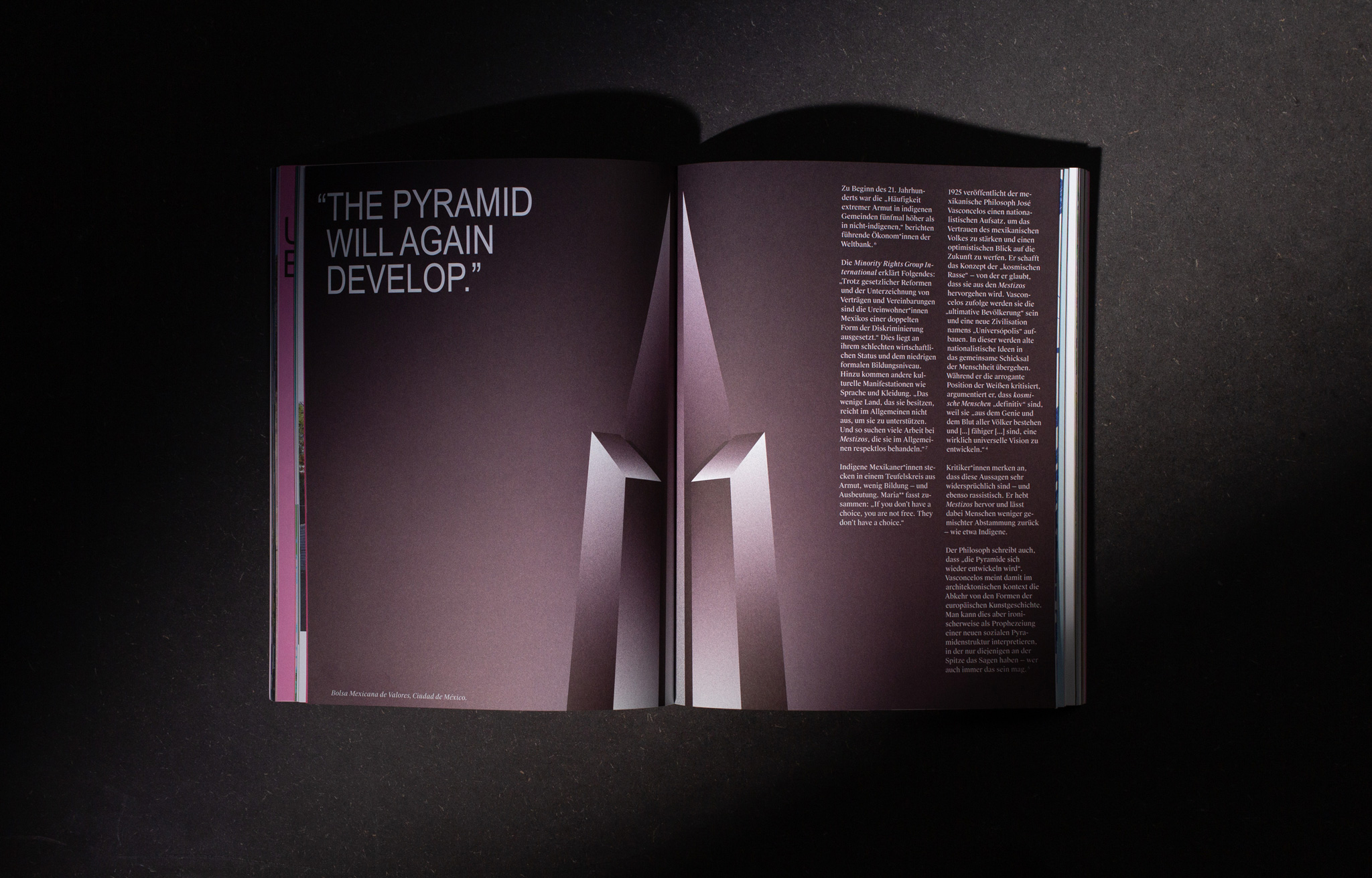 """The pyramid will again develop."" — third spread"